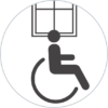 Manilla para personas con movilidad reducida.