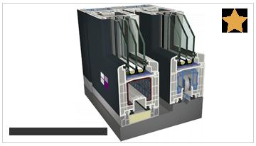 Puerta corredera elevable Cálida PVC 9000