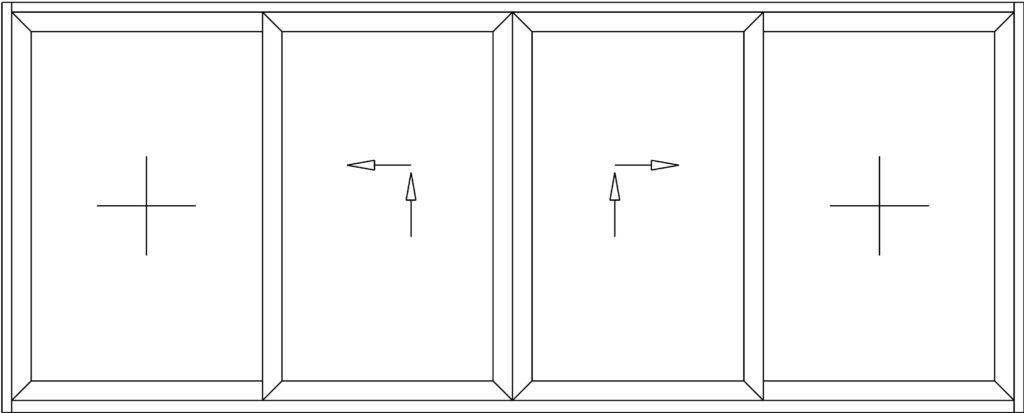 Apertura Esquema C Puerta Corredera Elevable 9000