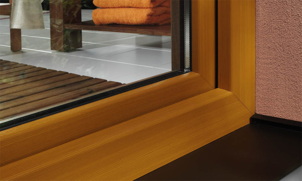 Ventana Cálida PVC imitación madera