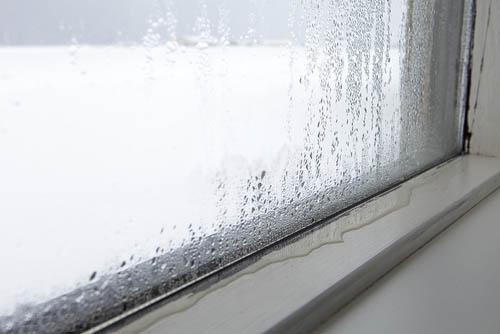 ventana con condensación