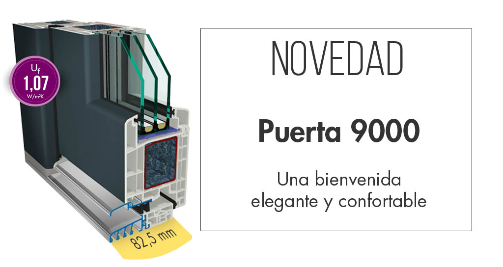 Novedad Cálida PVC Puerta 9000
