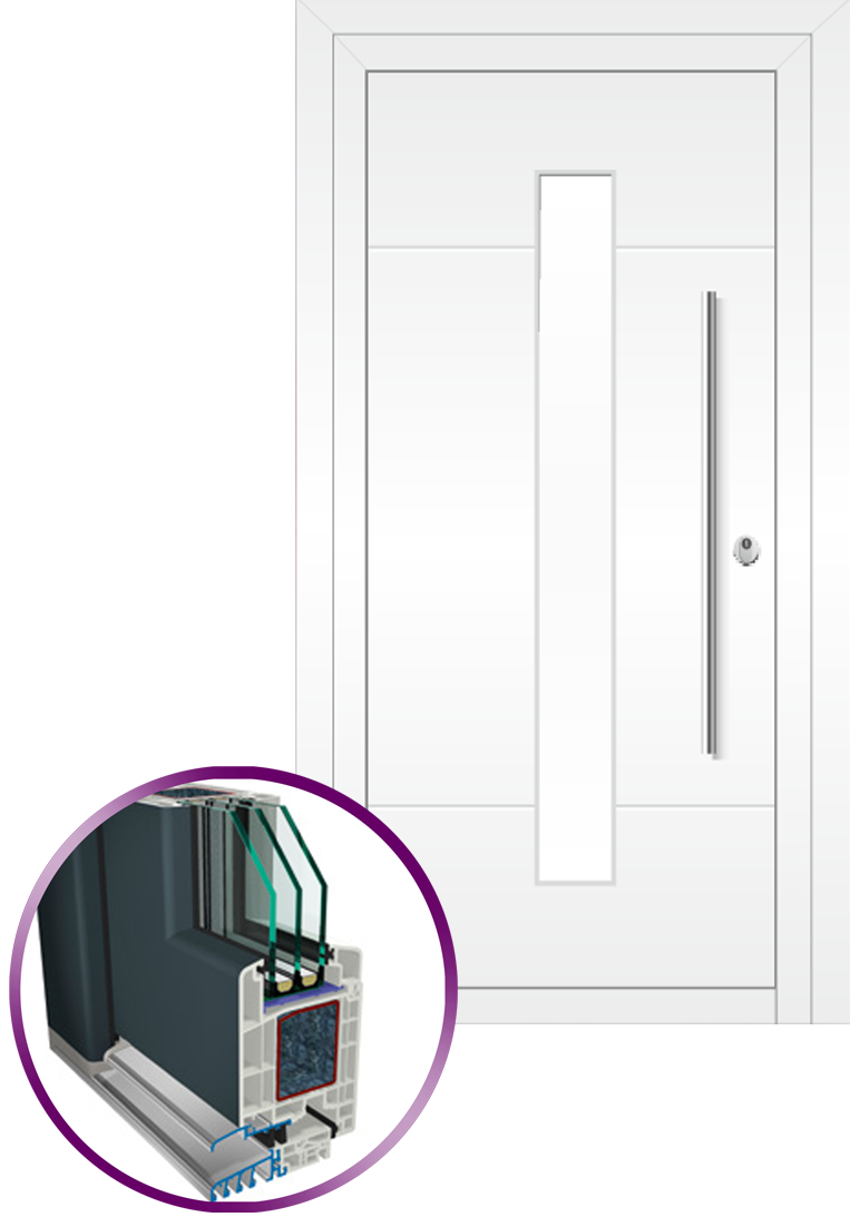 puerta de entrada 9000 estilo clásico
